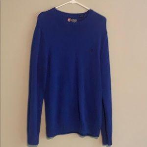 Chaps, blue sweater, size M